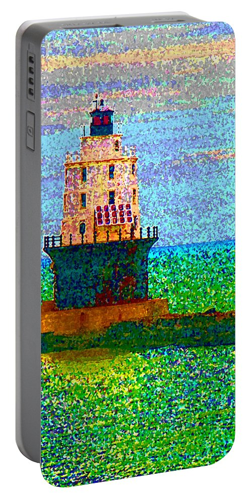 Light House Portable Battery Charger featuring the photograph Delight House by Clara Sue Beym