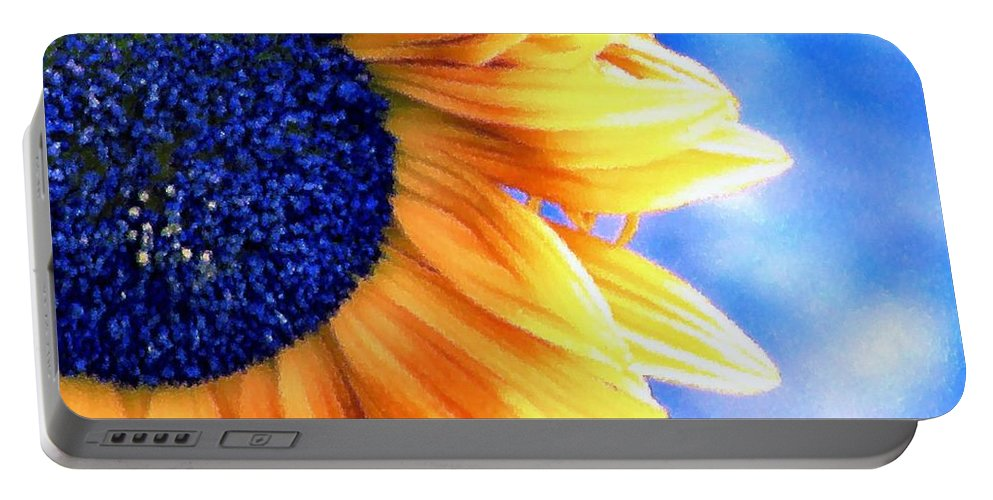 Sunflower Portable Battery Charger featuring the photograph Delight by Rory Sagner