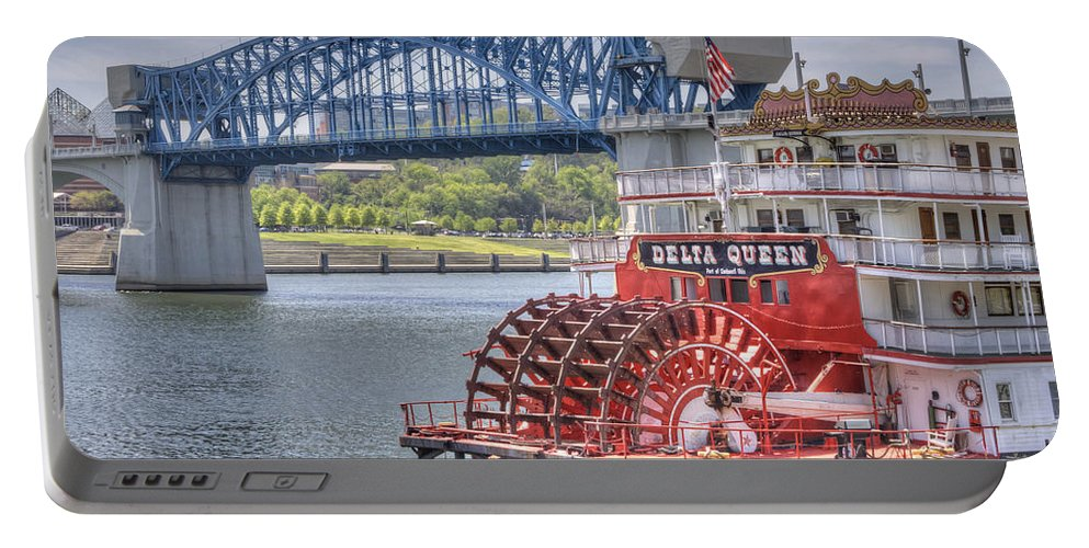 River Portable Battery Charger featuring the photograph Delta Queen by David Troxel