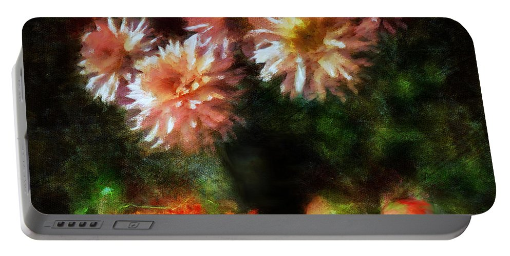 Impressionism Portable Battery Charger featuring the mixed media Depths Of Tranquility by Georgiana Romanovna