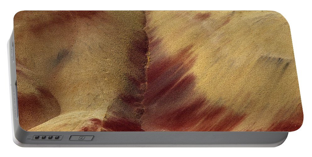 Painted Hills Portable Battery Charger featuring the photograph Desert Brushstrokes by Mike Dawson