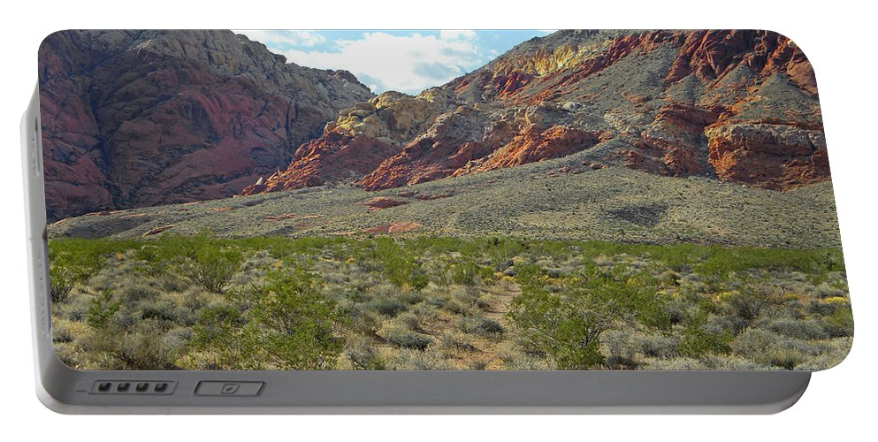 Calico Basin Portable Battery Charger featuring the photograph Desert Fire Stone by Frank Wilson