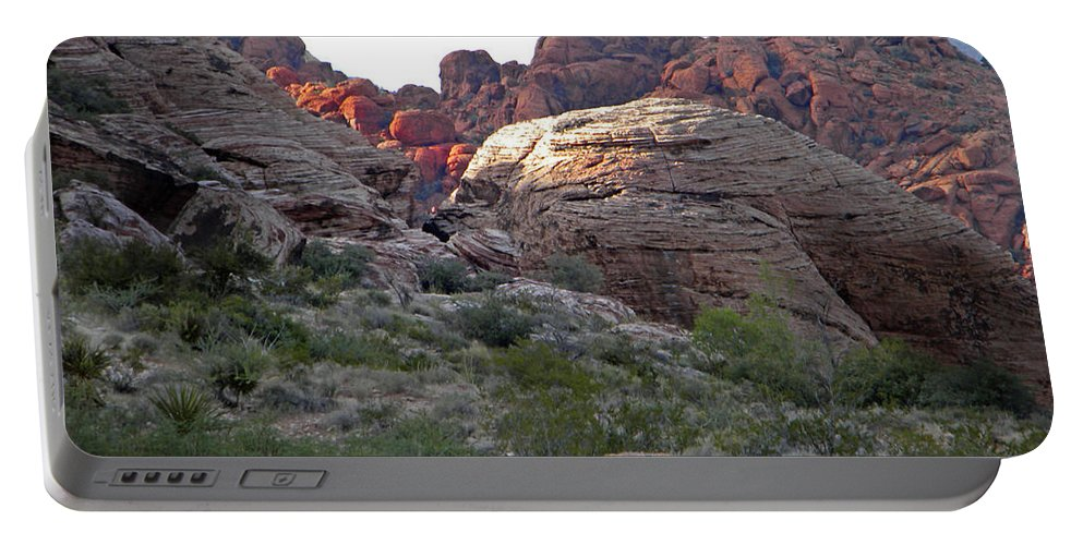Desert Portable Battery Charger featuring the photograph Desert Glow by Frank Wilson