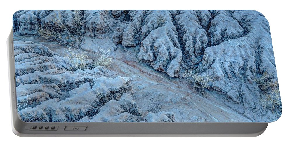 Nevada Portable Battery Charger featuring the photograph Desert Moonlight Erosion II by Gary Whitton