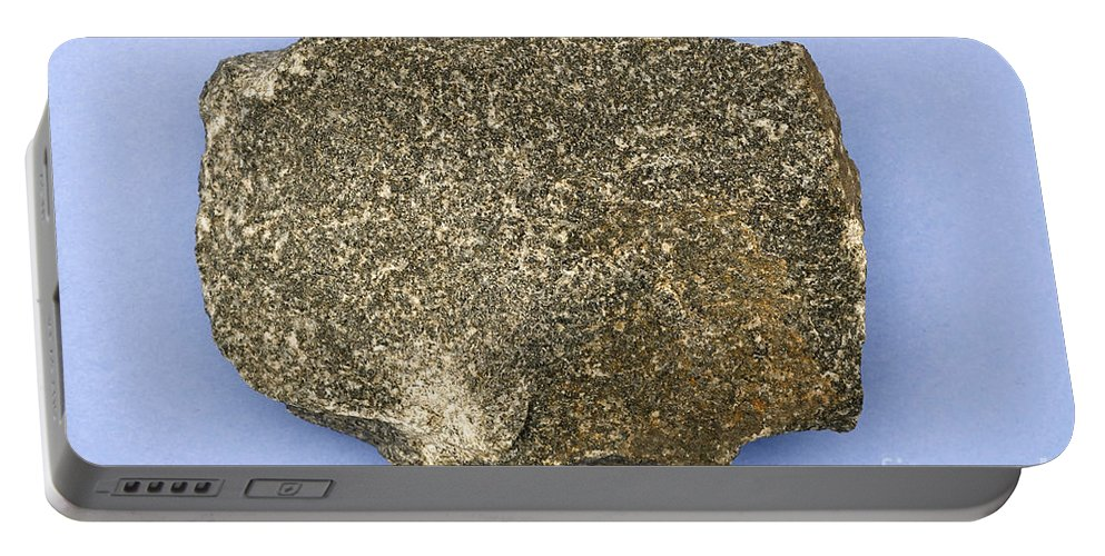 Geology Portable Battery Charger featuring the photograph Diabase by Ted Kinsman