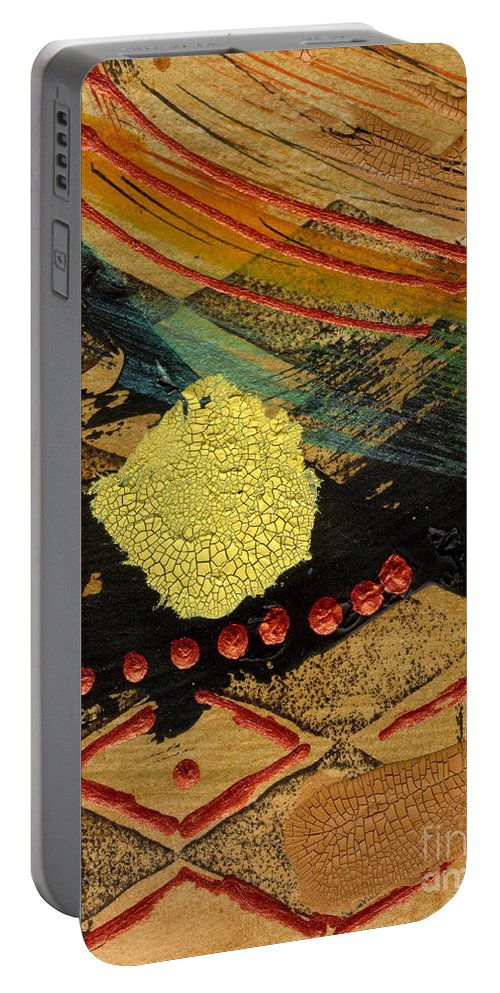 Diamonds Portable Battery Charger featuring the mixed media Diamond Sand Storm by Angela L Walker