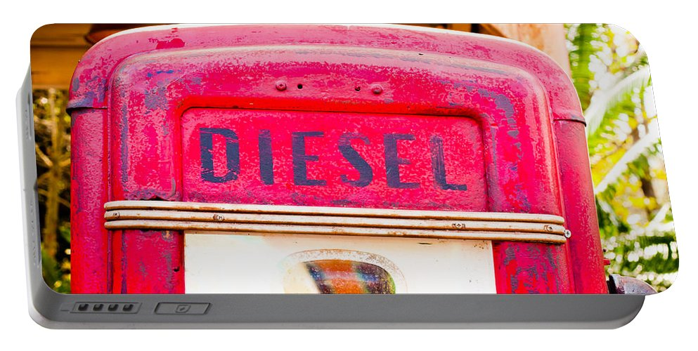 Abandoned Portable Battery Charger featuring the photograph Diesel Pump by Tom Gowanlock