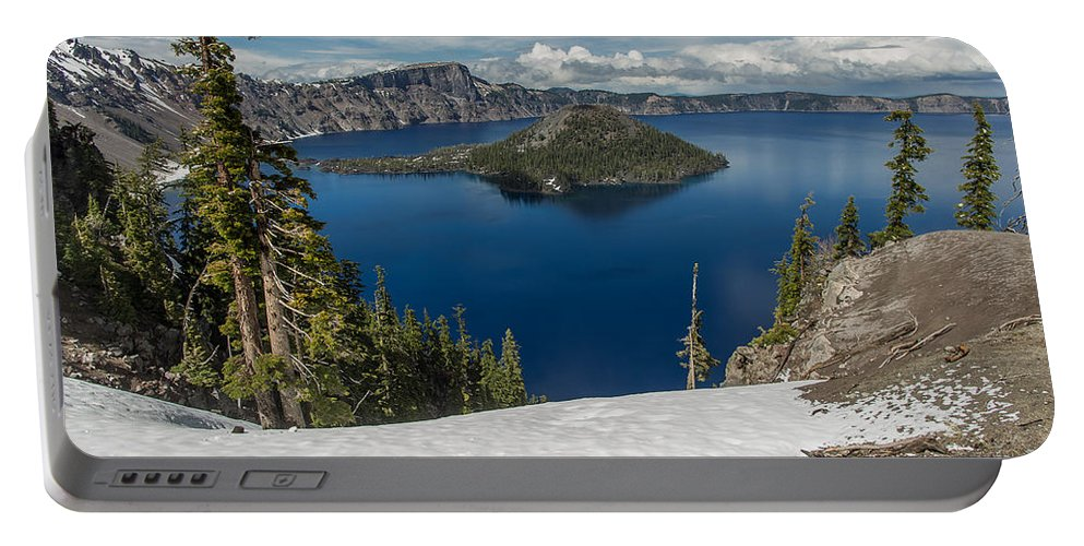 Cascades Portable Battery Charger featuring the photograph Discovery Point And Wizard Island by Greg Nyquist
