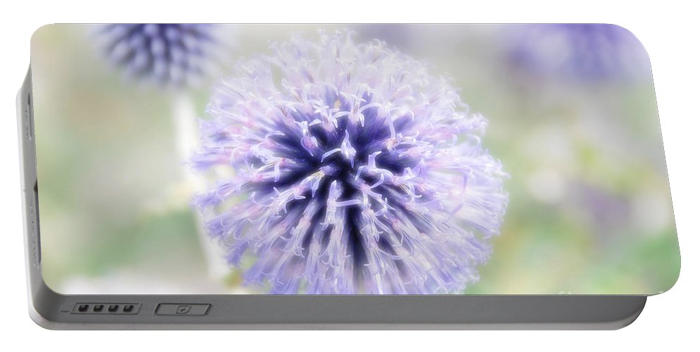 Purple Flower Portable Battery Charger featuring the photograph Diva by Ivy Ho