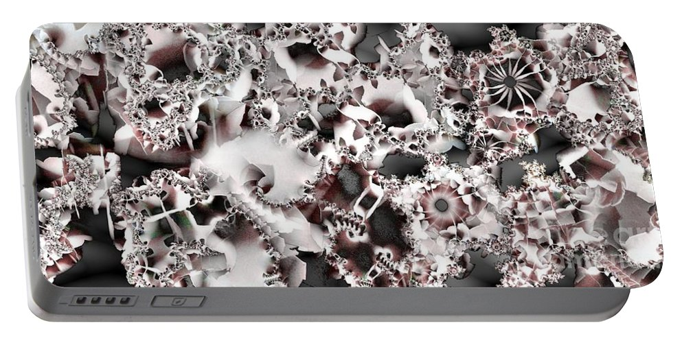 Abstract Portable Battery Charger featuring the digital art Divider by Ron Bissett