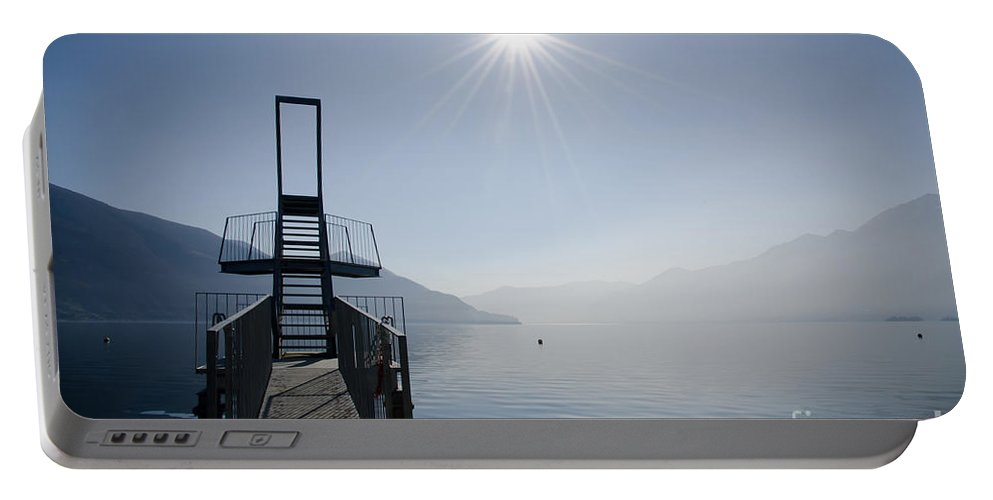Diving Board Portable Battery Charger featuring the photograph Diving Board by Mats Silvan
