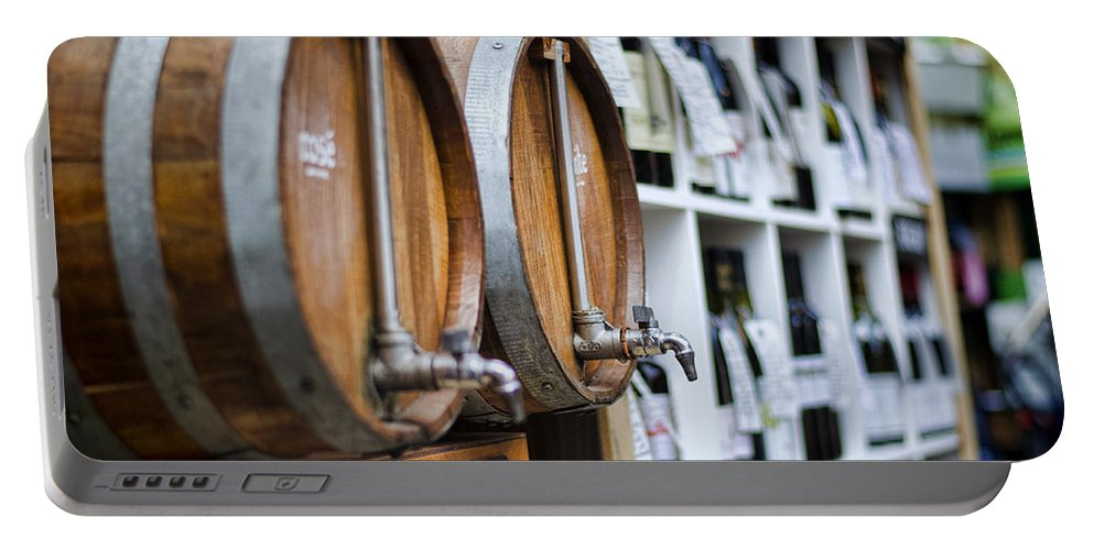 Wine Portable Battery Charger featuring the photograph Diy Wine by Heather Applegate