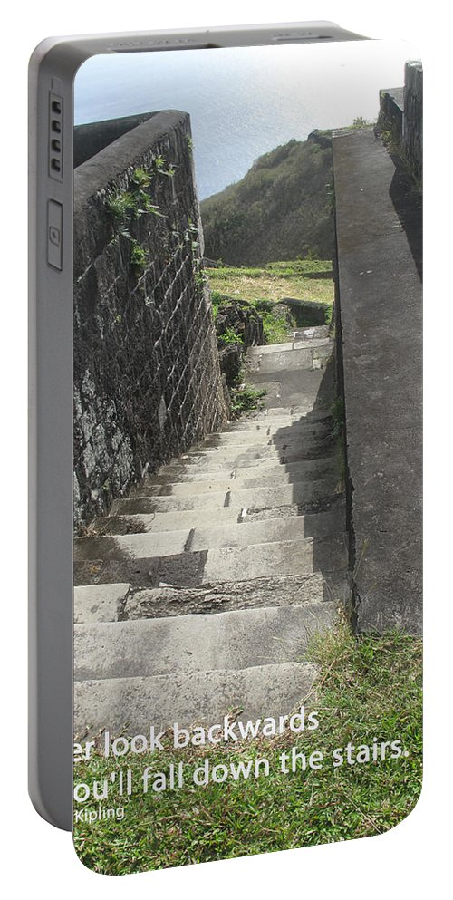 Stairs Portable Battery Charger featuring the photograph Do Not Look Back by Ian MacDonald