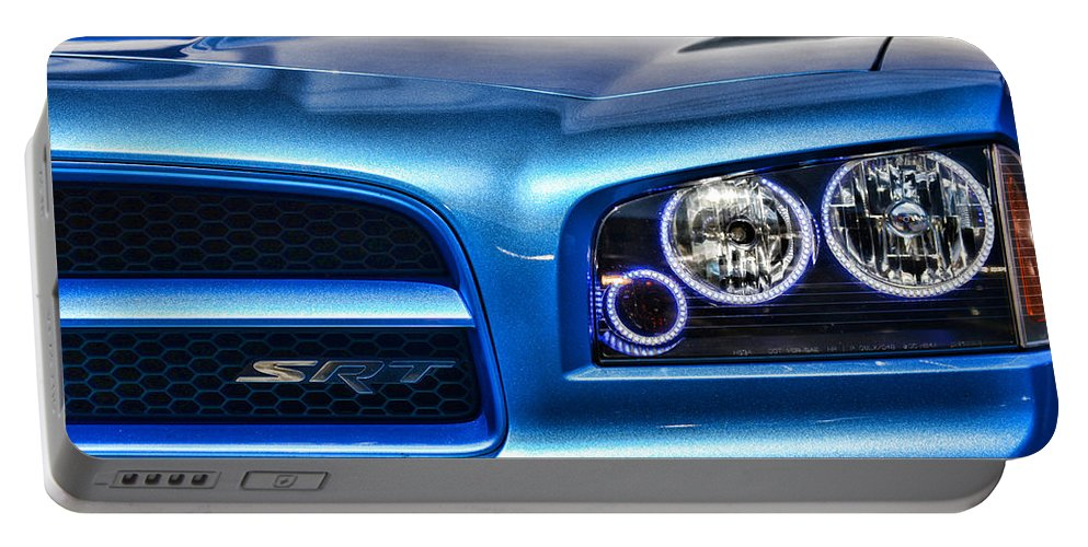 2007 Dodge Charger Portable Battery Charger featuring the photograph Dodge Charger Front by Paul Ward