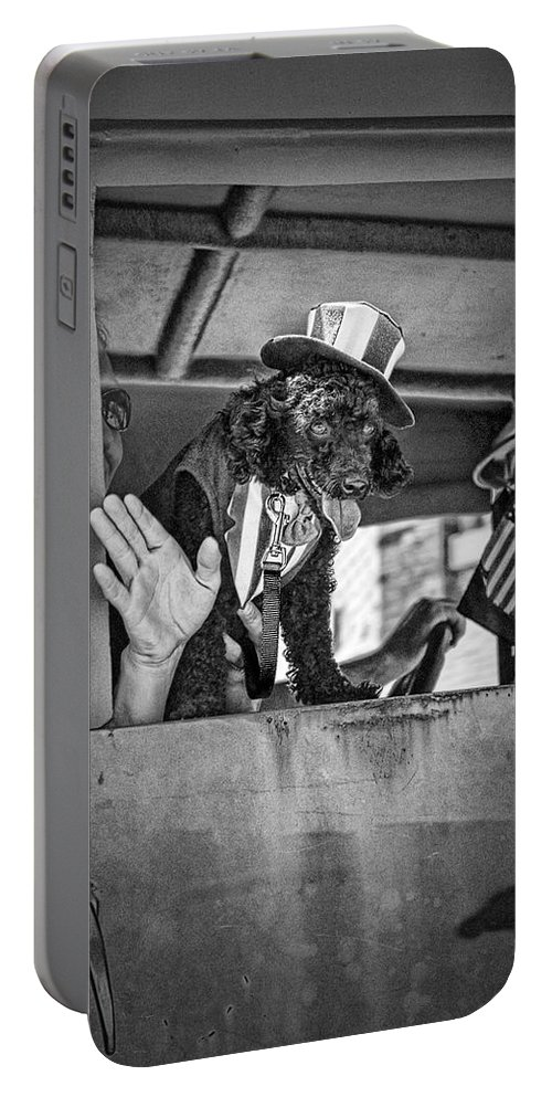 Art Portable Battery Charger featuring the photograph Dog On The Campaign Trail by Randall Nyhof