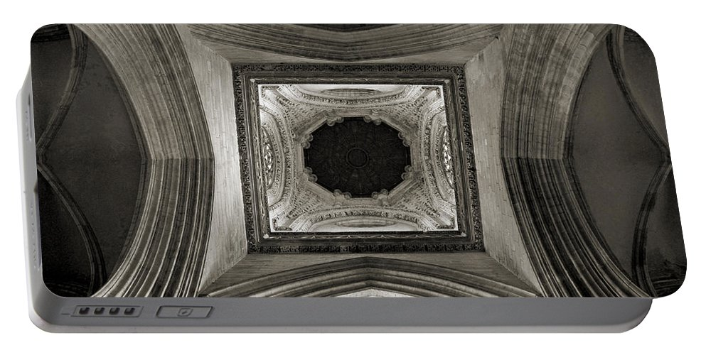 Dome Portable Battery Charger featuring the photograph Dome In Saint Jean Church - Caen by RicardMN Photography
