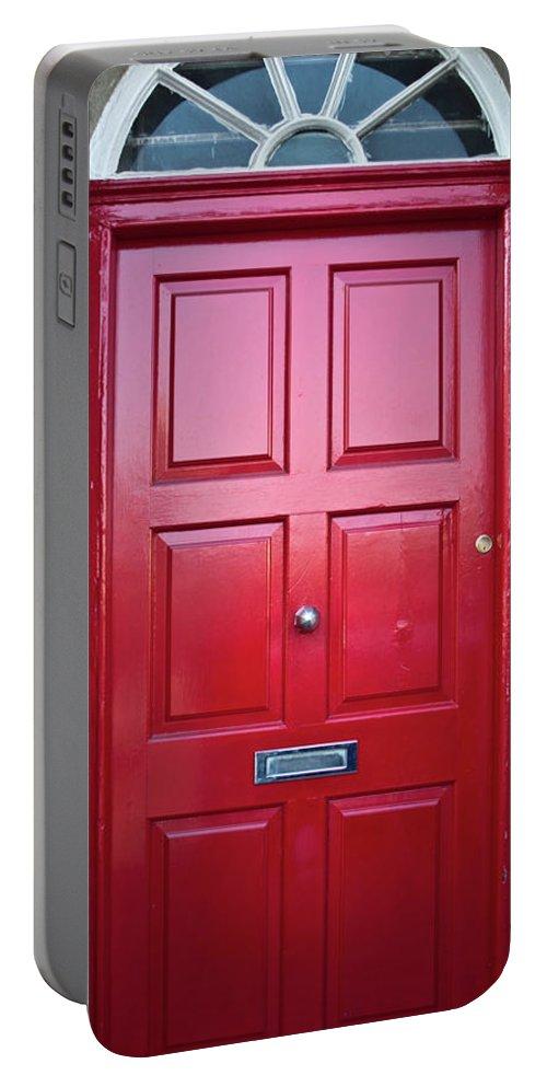 Door Portable Battery Charger featuring the photograph Door In Ireland 5 by Douglas Barnett