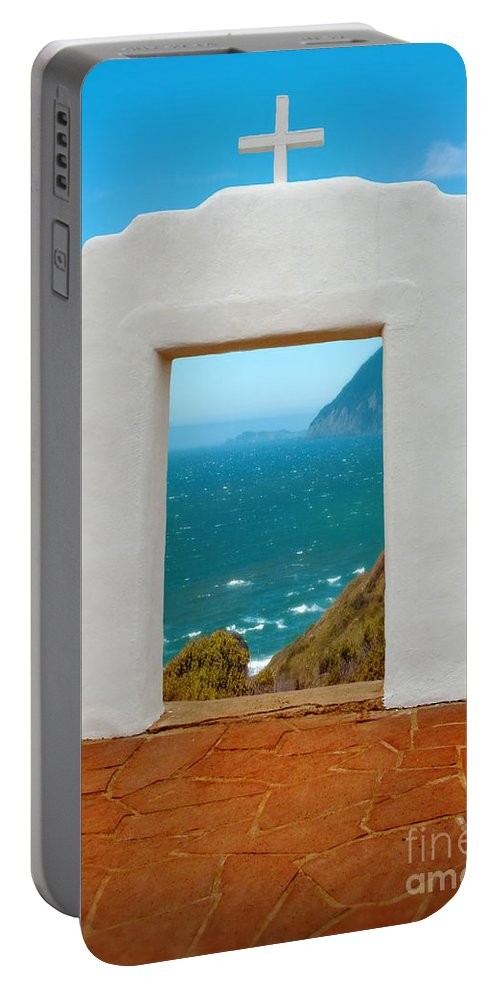 Door Portable Battery Charger featuring the photograph Door To The Sea by Jill Battaglia