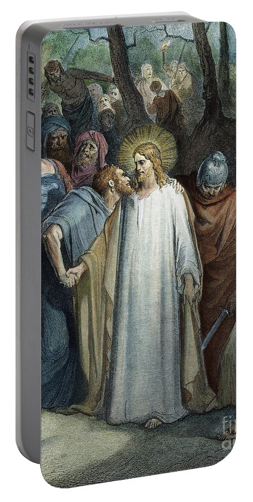 Apostle Portable Battery Charger featuring the photograph Dor�: Betrayal Of Christ by Granger