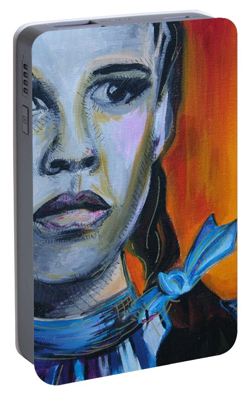 Wizard Of Oz Portable Battery Charger featuring the painting Dorothy by Kate Fortin