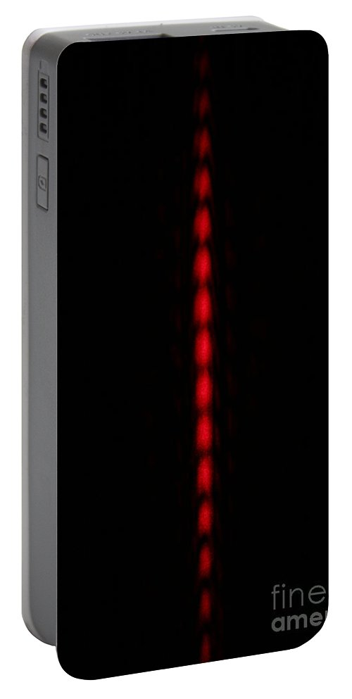 Diffraction Portable Battery Charger featuring the photograph Double Slit Diffraction by Ted Kinsman