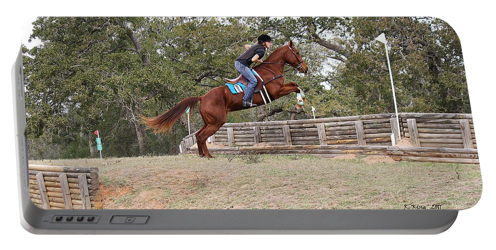 Roena King Portable Battery Charger featuring the photograph Double Up Hill Jump by Roena King