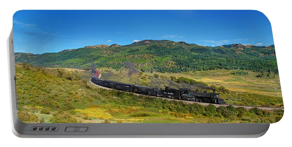 Steam Train Photographs Portable Battery Charger featuring the photograph Down In The Valley by Ken Smith
