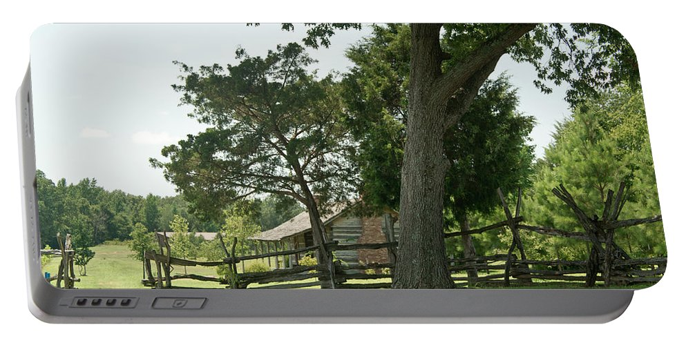 Portable Battery Charger featuring the photograph Down The Lane To The Cabin 3 by Douglas Barnett