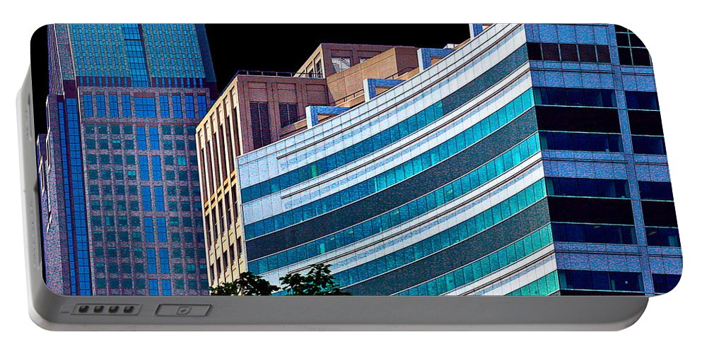 Cityscape Portable Battery Charger featuring the photograph Downtown by Burney Lieberman