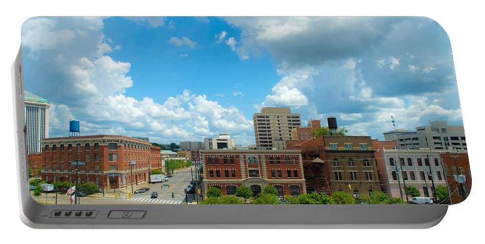 City Portable Battery Charger featuring the photograph Downtown Montgomery by Shannon Harrington