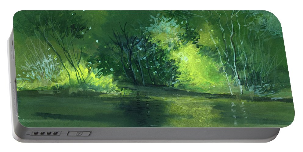 Dream Portable Battery Charger featuring the painting Dream 1 by Anil Nene