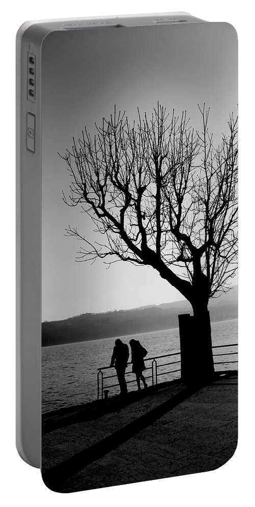 Portable Battery Charger featuring the photograph Dreaming In Front Of The Lake by Donato Iannuzzi