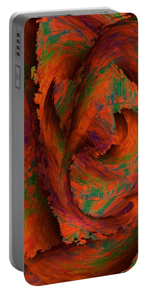 Dreamscapes Portable Battery Charger featuring the painting Dreamscapes by Christohper Gaston
