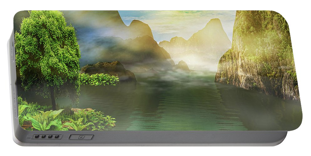 Landscape Portable Battery Charger featuring the photograph Dreamy Mood by Lourry Legarde