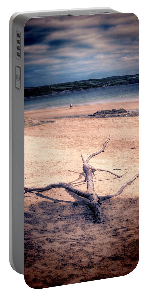 Driftwood Portable Battery Charger featuring the photograph Driftwood 2 Lomo by Steve Purnell