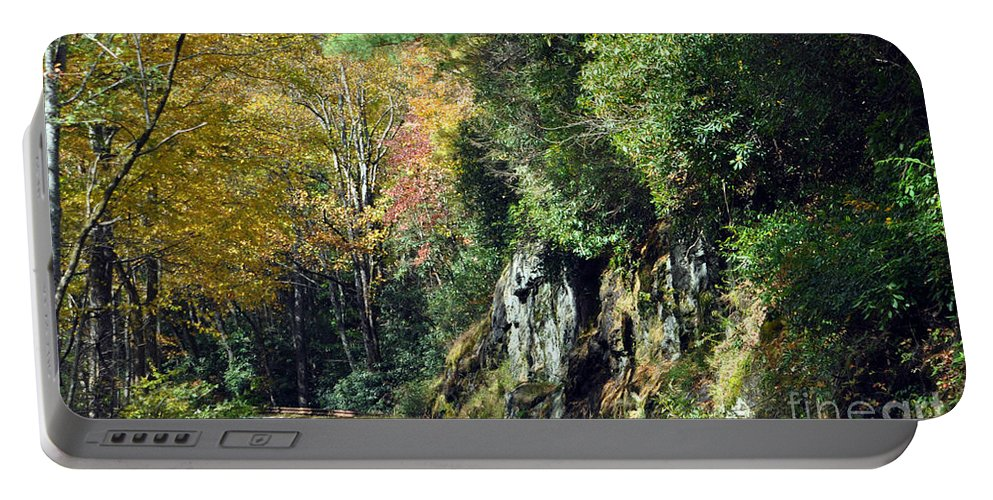 Mountains Portable Battery Charger featuring the photograph Drive In The Mountains by Lydia Holly