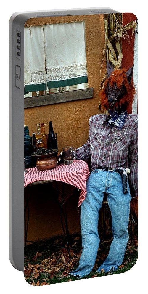 Usa Portable Battery Charger featuring the photograph Drunk Werewolf Diner by LeeAnn McLaneGoetz McLaneGoetzStudioLLCcom