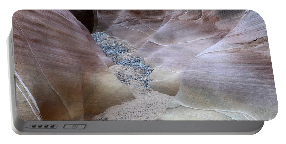 Valley Of Fire Portable Battery Charger featuring the photograph Dry Creek Bed 3 by Bob Christopher
