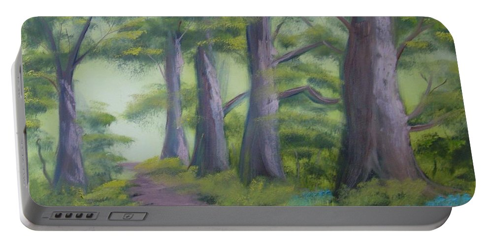 Painting Portable Battery Charger featuring the painting Duff House Path by Charles and Melisa Morrison