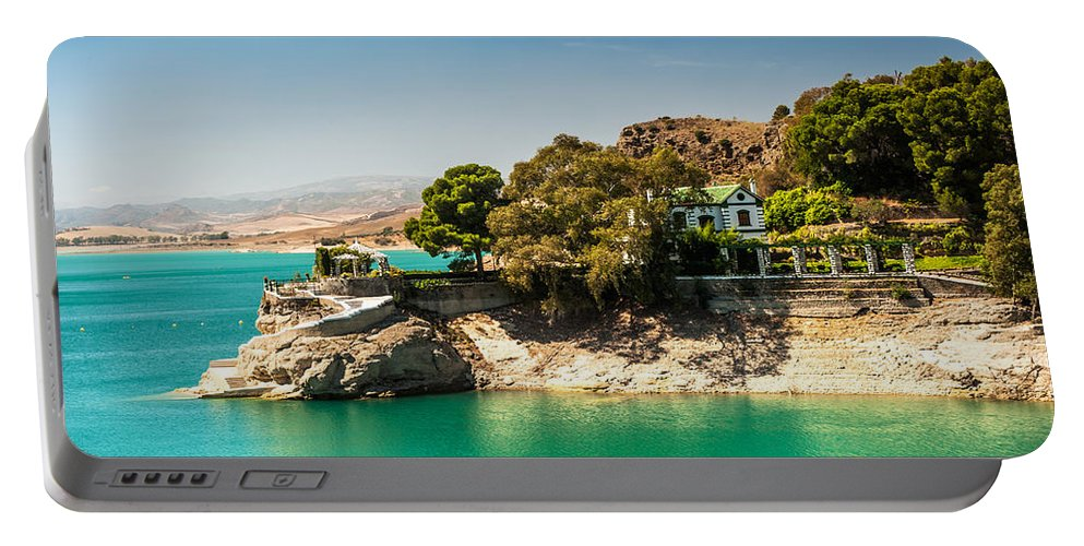 Jenny Rainbow Fine Art Photography Portable Battery Charger featuring the photograph Duke House In El Chorro Lake District. Spain by Jenny Rainbow