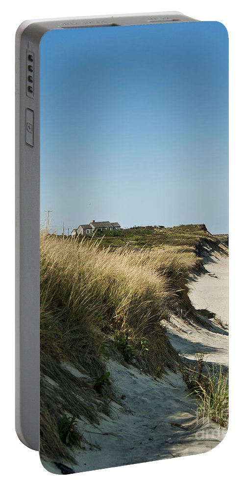 Beach Portable Battery Charger featuring the photograph Dune Shack by John Greim