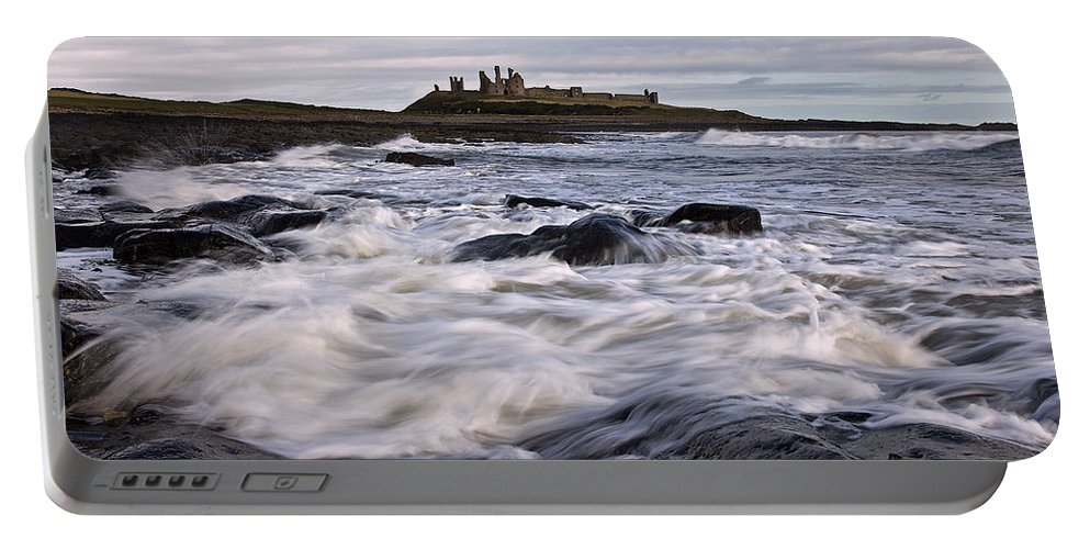Dunstanburgh Castle Portable Battery Charger featuring the photograph Dunstanburgh Castle Iv by David Pringle
