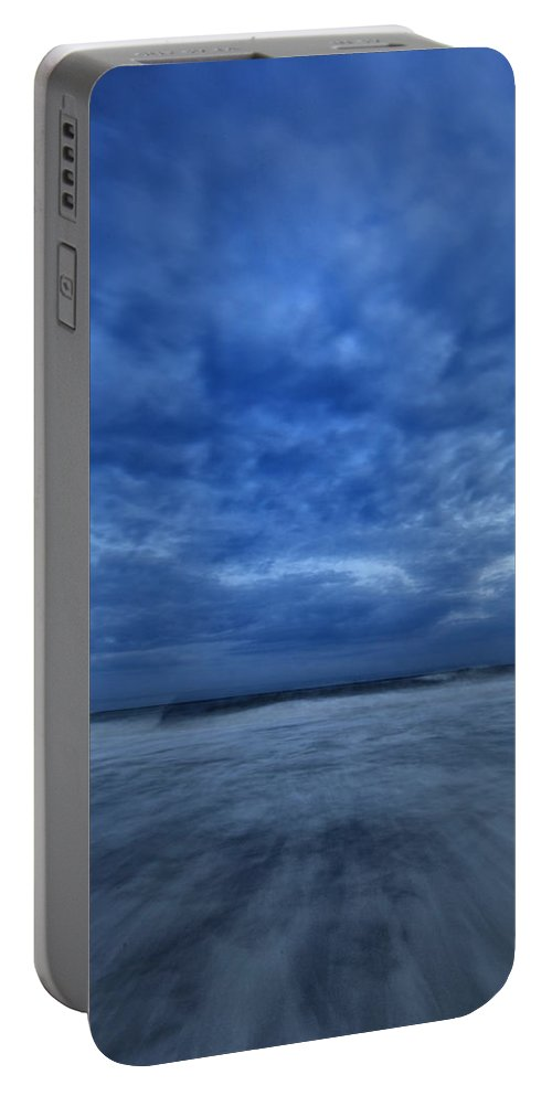 Dusk Portable Battery Charger featuring the photograph Dusk On Fire Island by Rick Berk