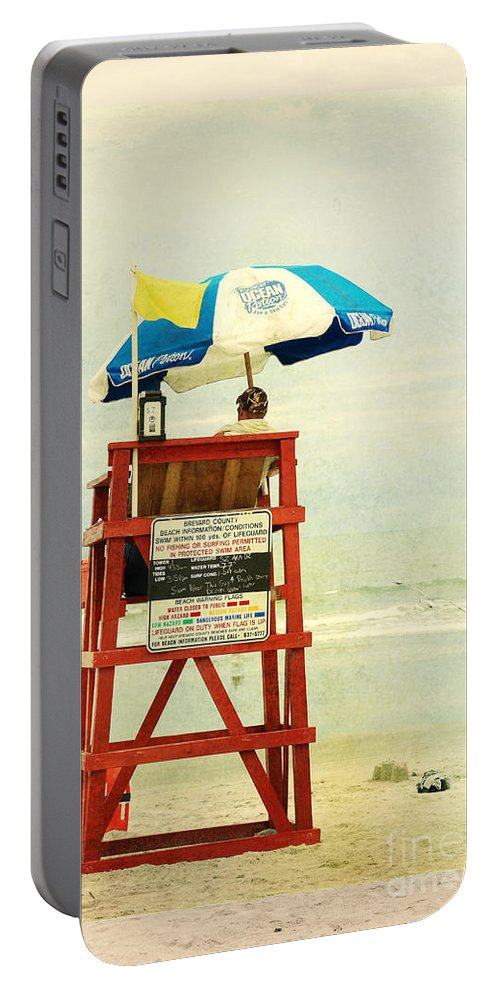 Beach Portable Battery Charger featuring the photograph Duty Time by Susanne Van Hulst