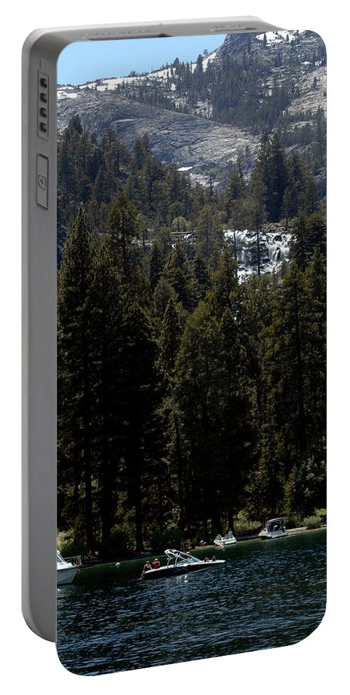 Usa Portable Battery Charger featuring the photograph Eagle Falls Emerald Bay by LeeAnn McLaneGoetz McLaneGoetzStudioLLCcom