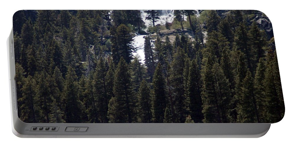 Usa Portable Battery Charger featuring the photograph Eagle Falls by LeeAnn McLaneGoetz McLaneGoetzStudioLLCcom