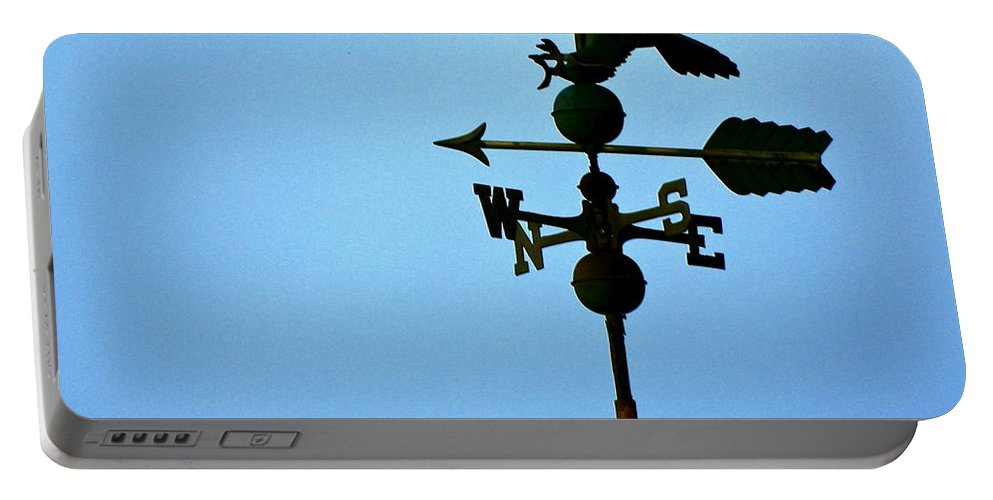 Weathervane Portable Battery Charger featuring the photograph Eagle Weathervane by Eric Tressler