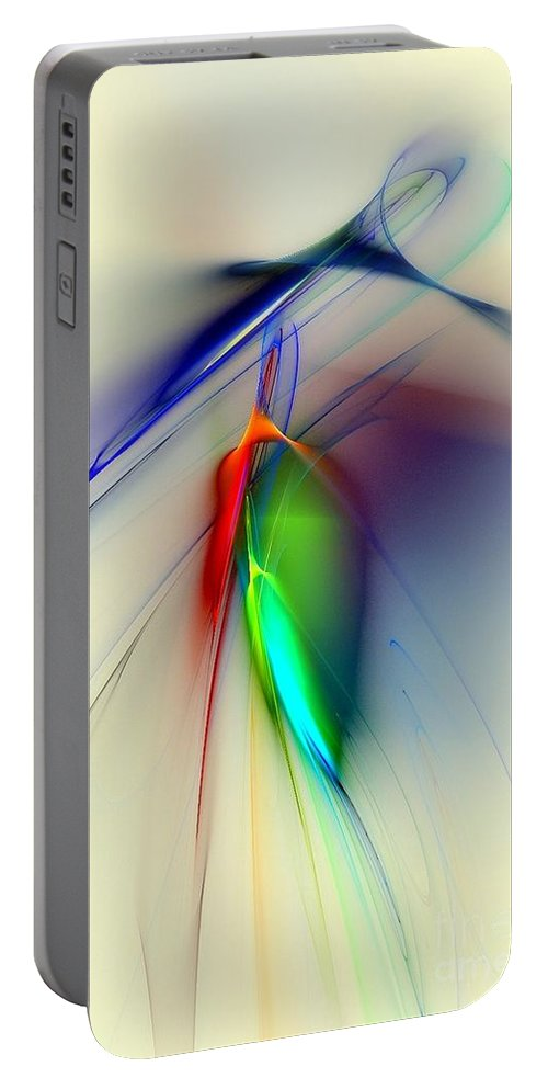 Tulip Portable Battery Charger featuring the digital art Early Death Of A Tulip by Klara Acel