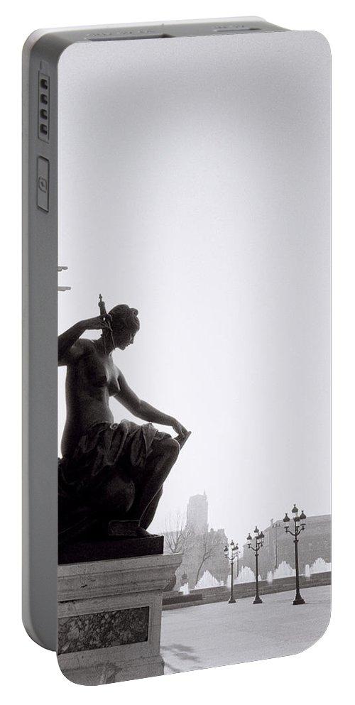 Paris Portable Battery Charger featuring the photograph Paris Sunrise by Shaun Higson