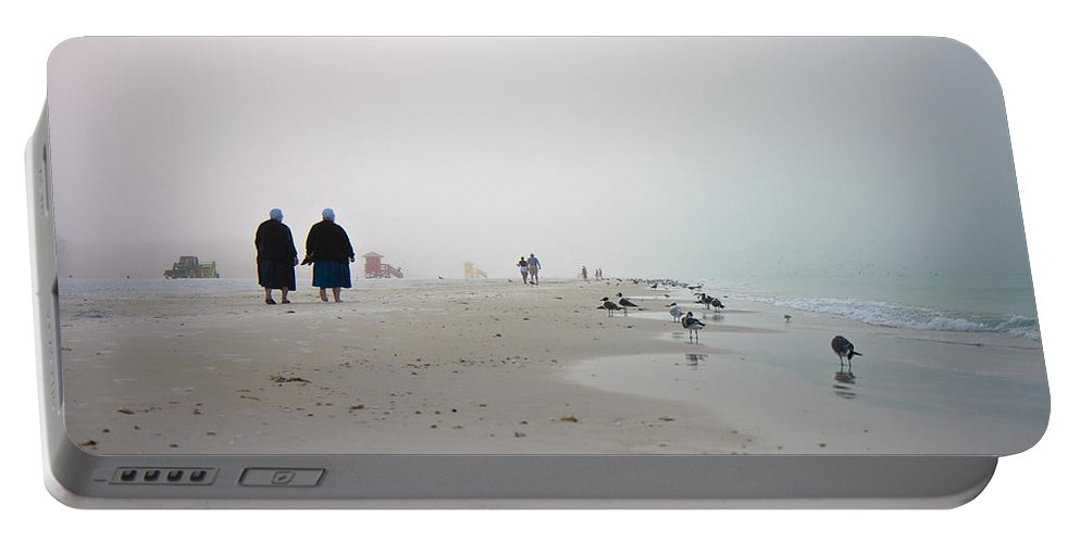 Siesta Portable Battery Charger featuring the photograph Early Morning Walk by Betsy Knapp